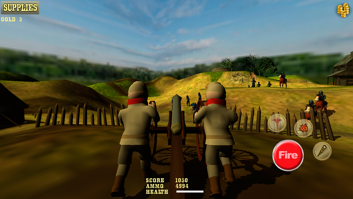 Cannon Shooter : Civil War Pro - screenshot