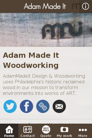 Adam Made It Woodworking