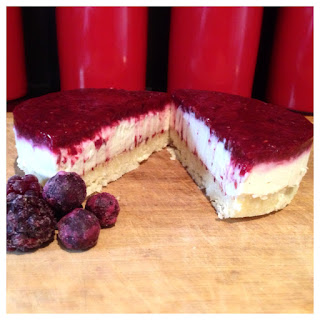 Raw Mixed Berry Lemon Cheesecake