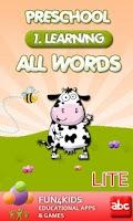Screenshot of Preschool All Words 1 Lite