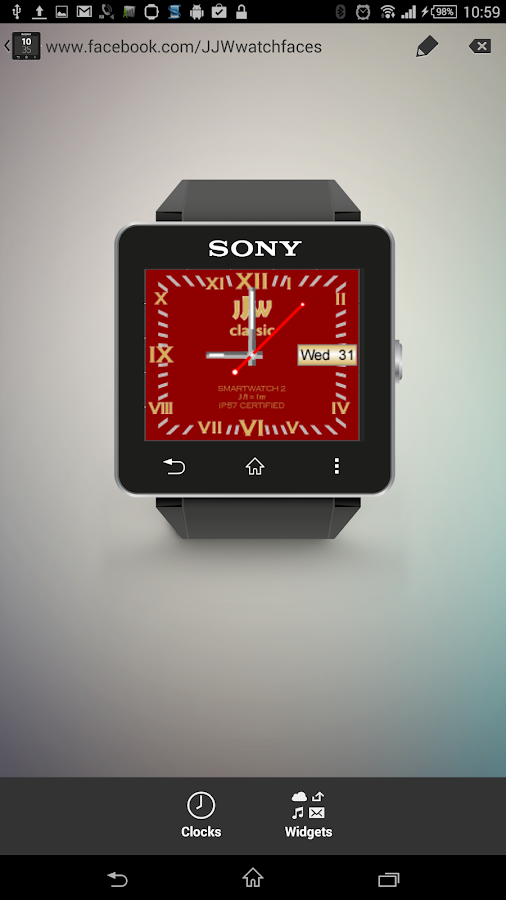 JJW Classic Watchface 7 SW2- screenshot