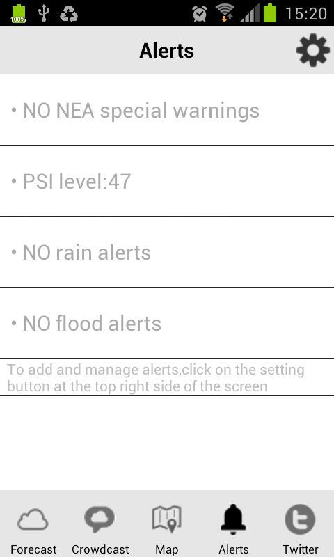 WeatherLah- screenshot