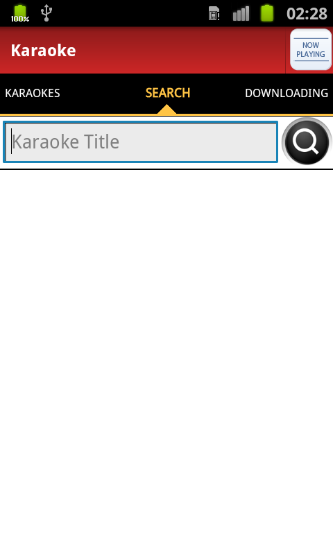 Android Karaoke - screenshot