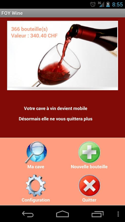 Cave à vin - FOYWine- screenshot