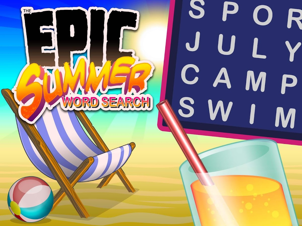 Epic Summer Word Search- screenshot