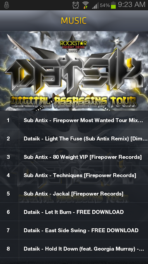 DATSIK- DIGITAL ASSASSINS TOUR - screenshot