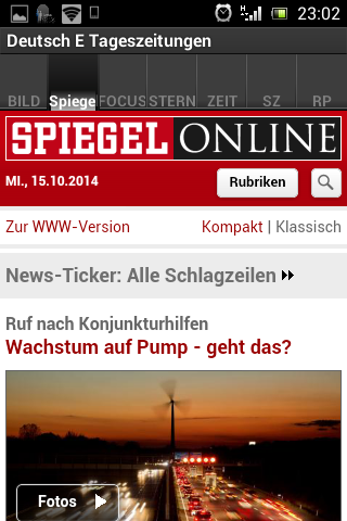 Deutsch E Tageszeitungen