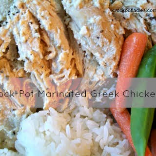 Crock-Pot Marinated Greek Chicken.
