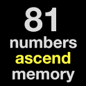 81 numbers ascend memory icon
