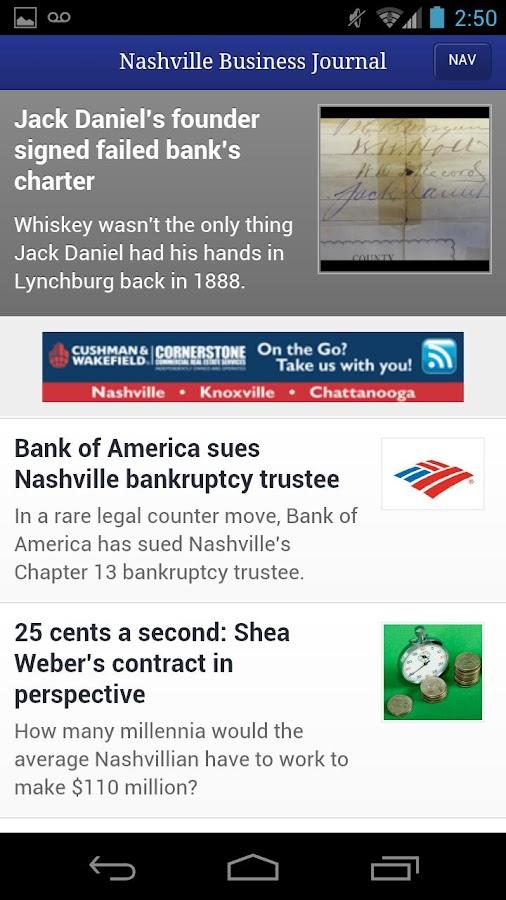 Nashville Business Journal- screenshot