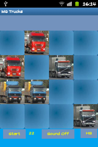 Trucks Hard Memory Game - screenshot
