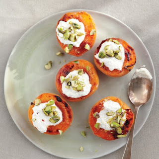 Broiled Apricots with Fresh Ricotta and Pistachios