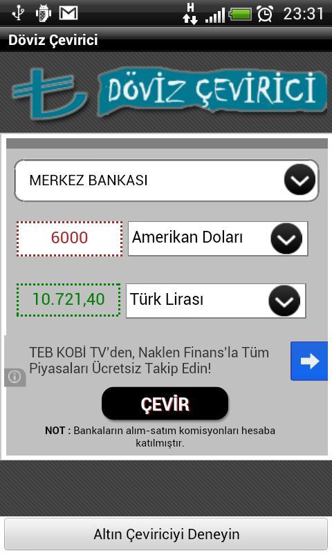 Döviz Çevirici (Anlık)- screenshot
