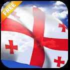 3D Georgia Flag Live Wallpaper icon