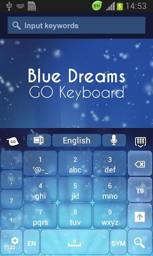 無料个人化AppのBlue Dreams Keyboard|記事Game