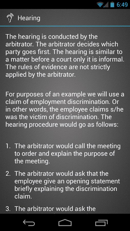 Arbitration- screenshot