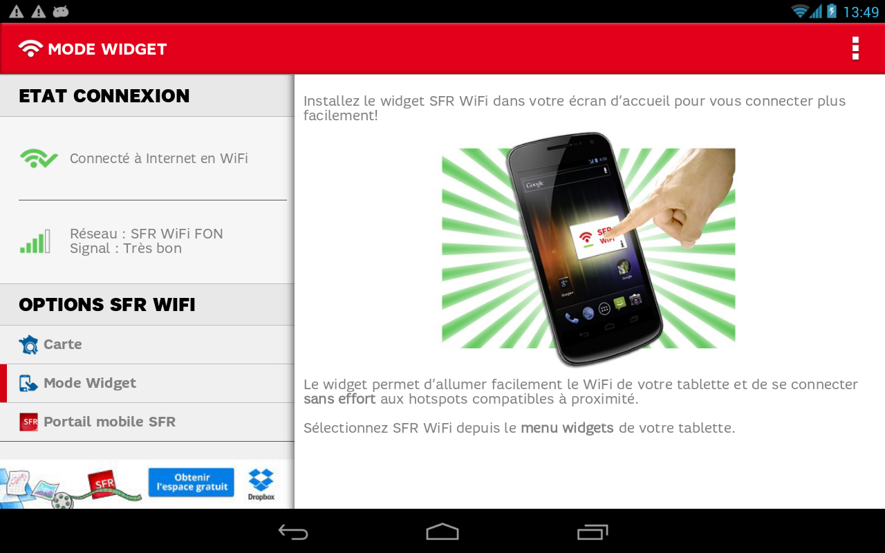 SFR WiFi- screenshot