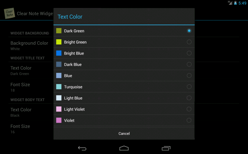 Clear Note Widget Sticky Notes - screenshot
