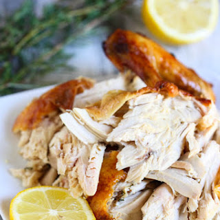 Classic Roast Chicken with Lemon and Herbs.