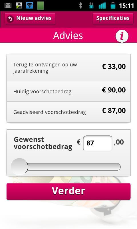 VerbruiksManager - screenshot