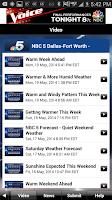 Screenshot of DFW Weather