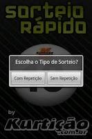 Screenshot of Sorteio Rápido
