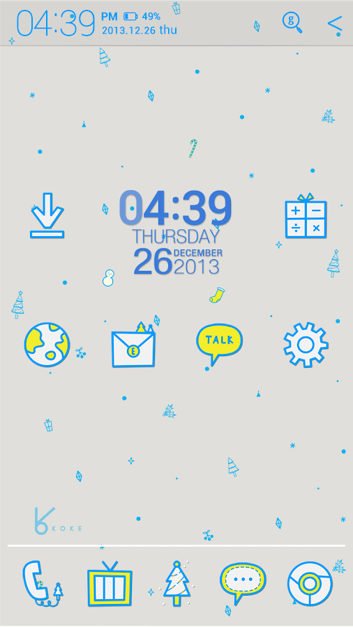 blue winter_ATOM theme - screenshot