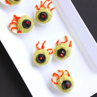 Green Eyed Monster Deviled Eggs