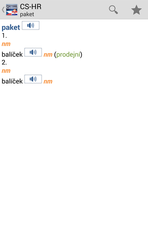 Czech<>Croatian Dictionary T- screenshot