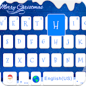ChristmasBlue Theme-iKeyboard
