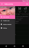 Screenshot of Baby Daybook - daily tracker