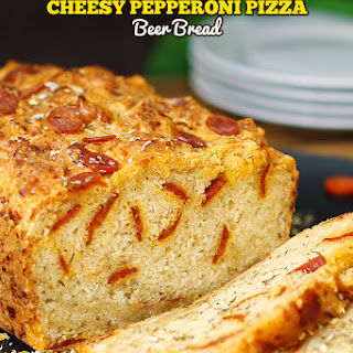 Cheesy Pepperoni Pizza Beer Bread