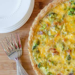 Cheesy Broccoli Bacon Quiche.