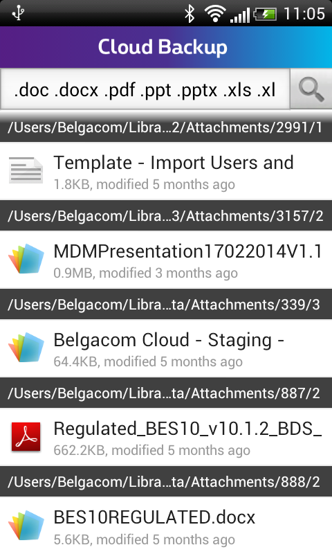 Cloud Backup - screenshot