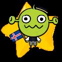 [B]TypingCONy for Icelandic logo