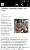 Screenshot of Boston Gay Pride