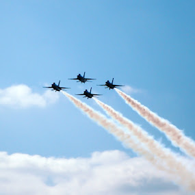 On the horizon by Cliff Dowden - Transportation Airplanes ( wings over houston, airplanes, bookin it, t-birds, thunderbirds, air, transport )