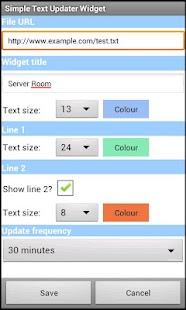 Simple Text Updater Widget- screenshot thumbnail