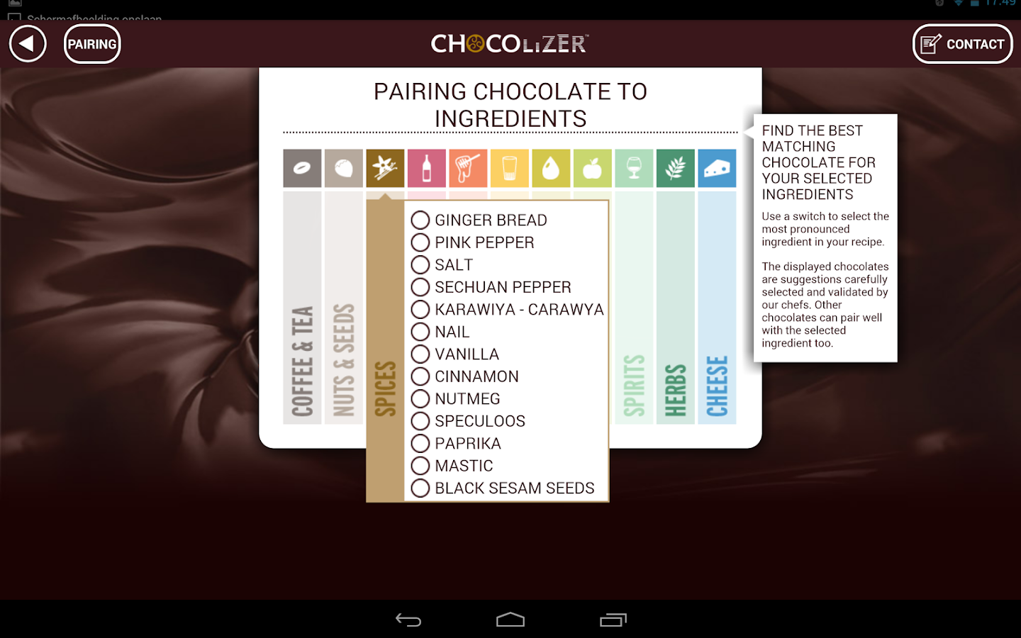 Chocolizer™ - screenshot