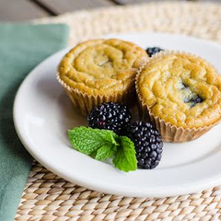 Paleo Banana Blackberry Muffins.