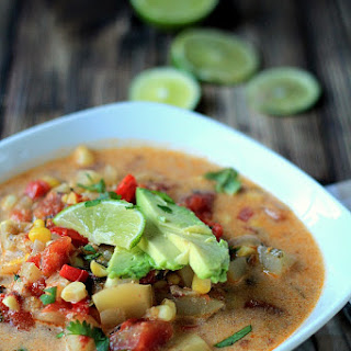 Crock Pot Southwestern Corn & Potato Chowder {Dairy Free}.