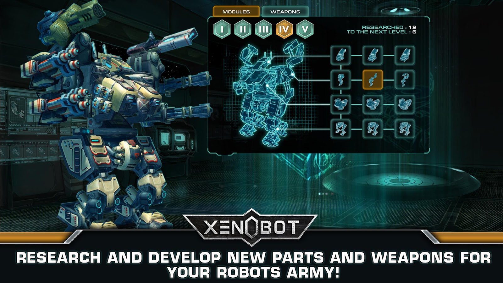 Xenobot. Battle robots.- screenshot