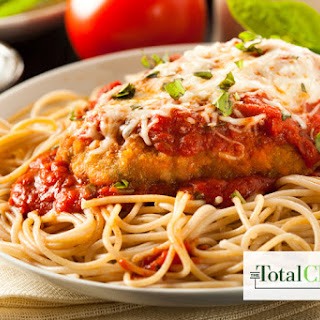 Total Choice Chicken Parmesan and Spaghetti Plate