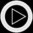 Poweramp skin TRON BLANC icon