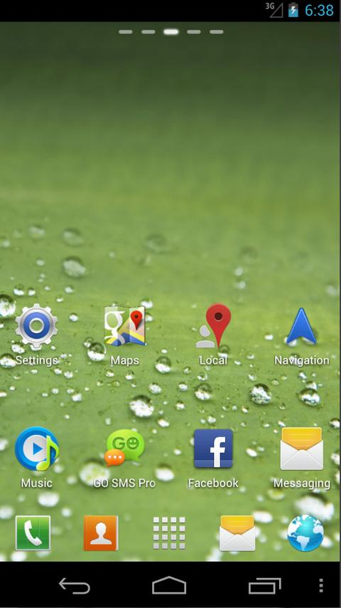 Go Galaxy S3 Theme Dew - screenshot