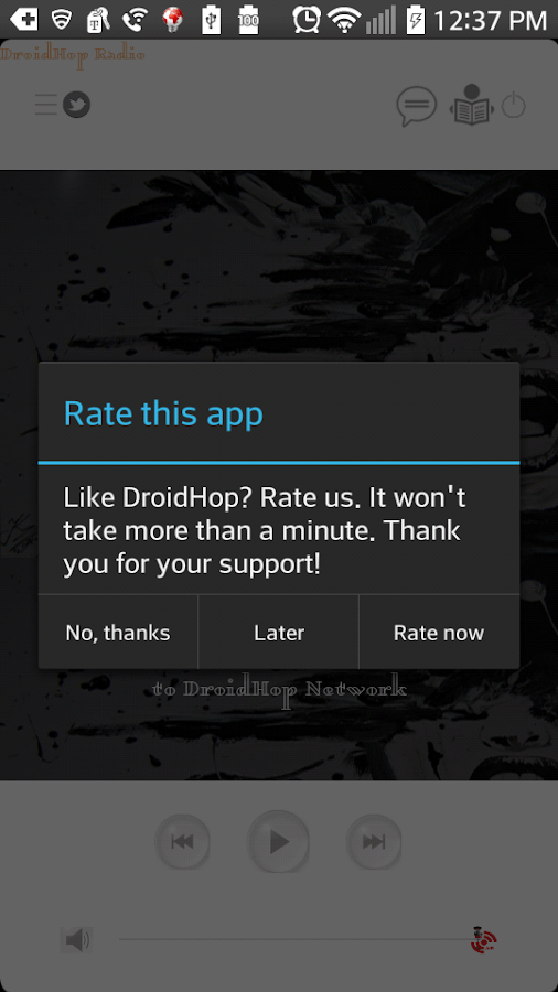 DroidHop Radio Hip Hop SMN- screenshot
