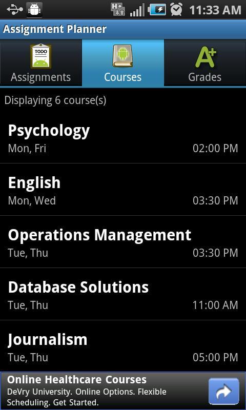 Assignment Planner FREE - screenshot
