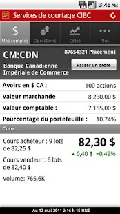 CIBC Mobile Brokerage - screenshot thumbnail