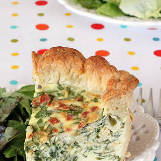 Cheesy Spinach & Bacon Puff Pastry Quiche.
