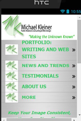 Michael Kleiner PR Web Apps